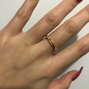 14k gold plated ring size 6